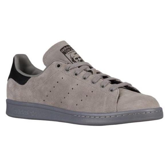 new product a6e3e 4dc82 Adidas Stan Smith Grey Suede